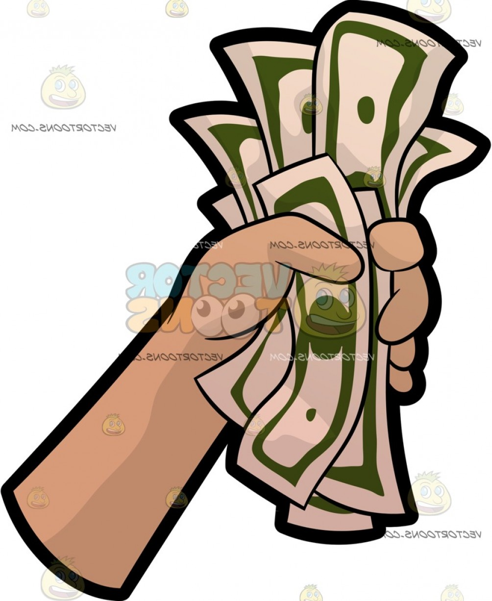 Hand Fist Vector: A Hand Holding A Fist Full Of Money