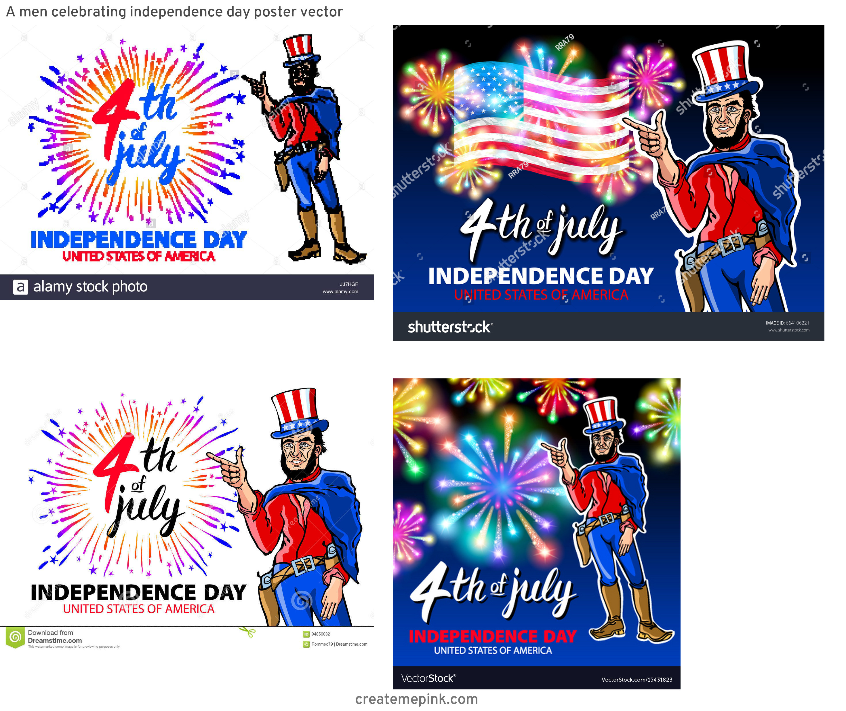 4th Of July Vectors For Men's: A Men Celebrating Independence Day Poster Vector