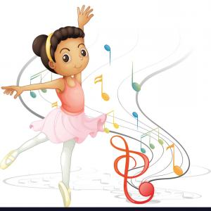 Dancing Musical Notes Vector: Stock Illustration Silhouette Dancer Musical Notes White Background Image