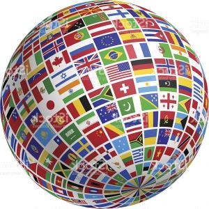 World map globes detailed editable vector createmepink a globe made of many countries flags on white background gm vector globe countries world map gumiabroncs Choice Image