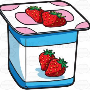 Yogurt Vector: Pouring Yoghurt With Splashes Vector Clipart