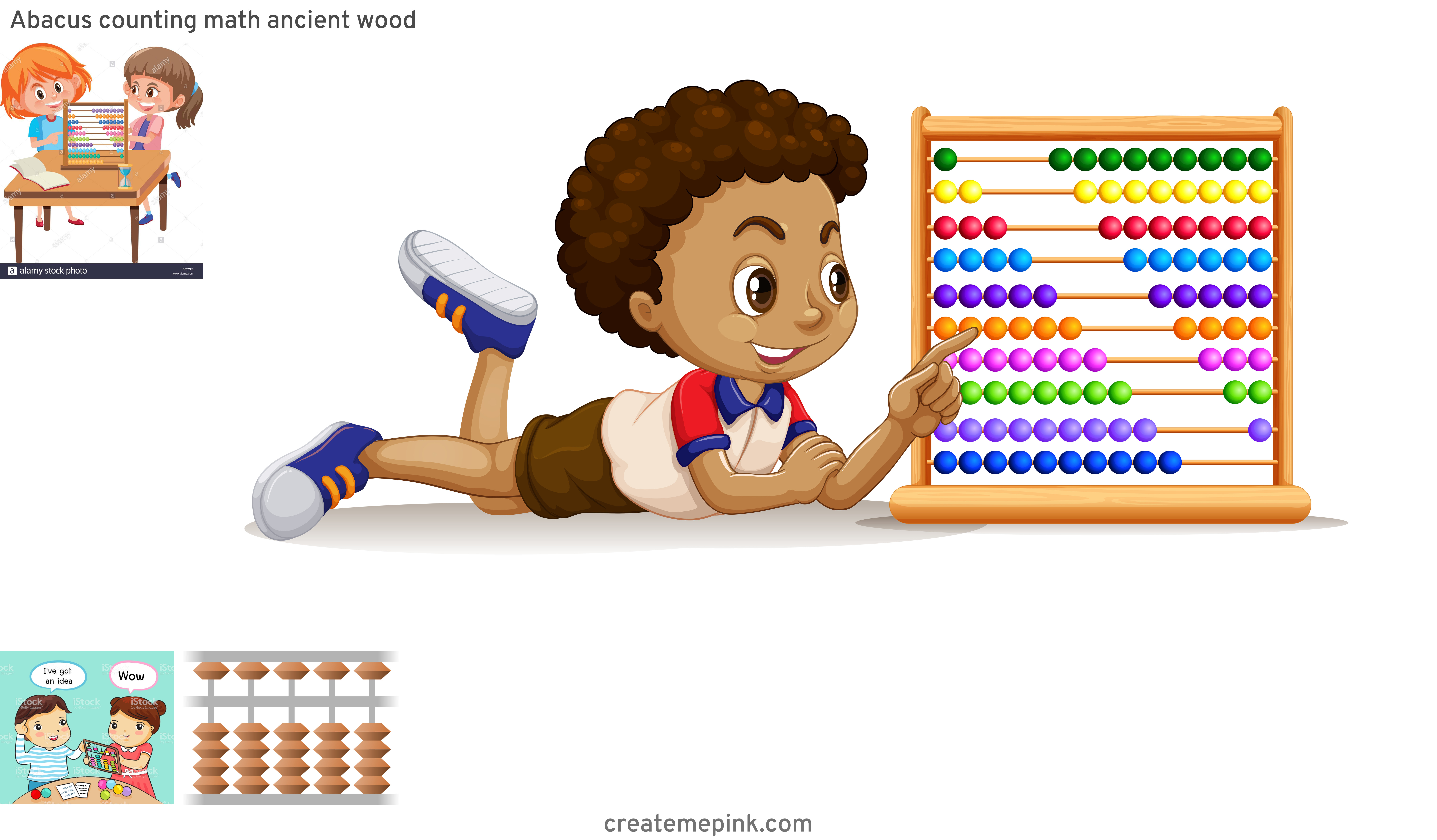 Abacus Vector Art: Abacus Counting Math Ancient Wood