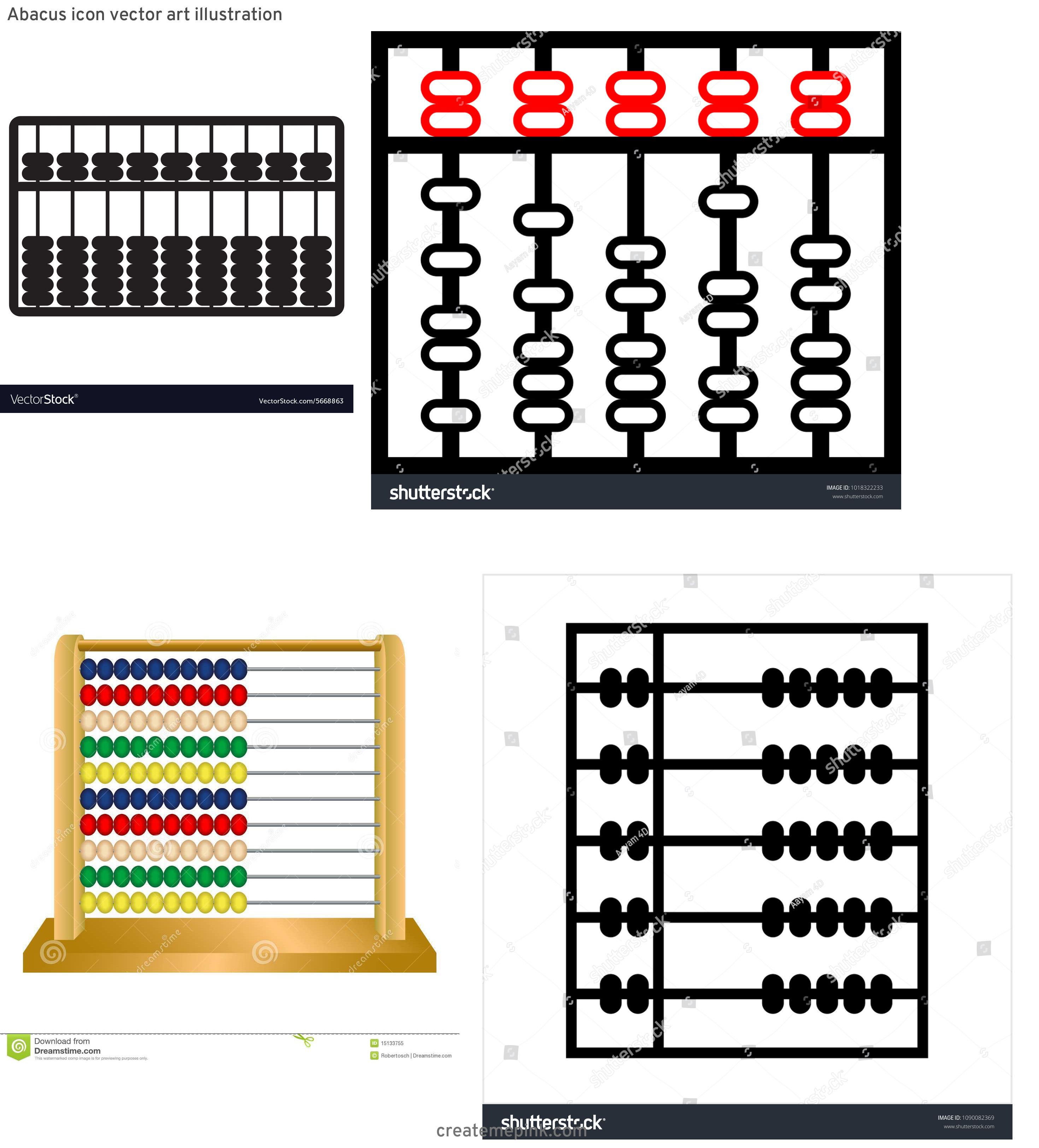 Abacus Vector Art: Abacus Icon Vector Art Illustration