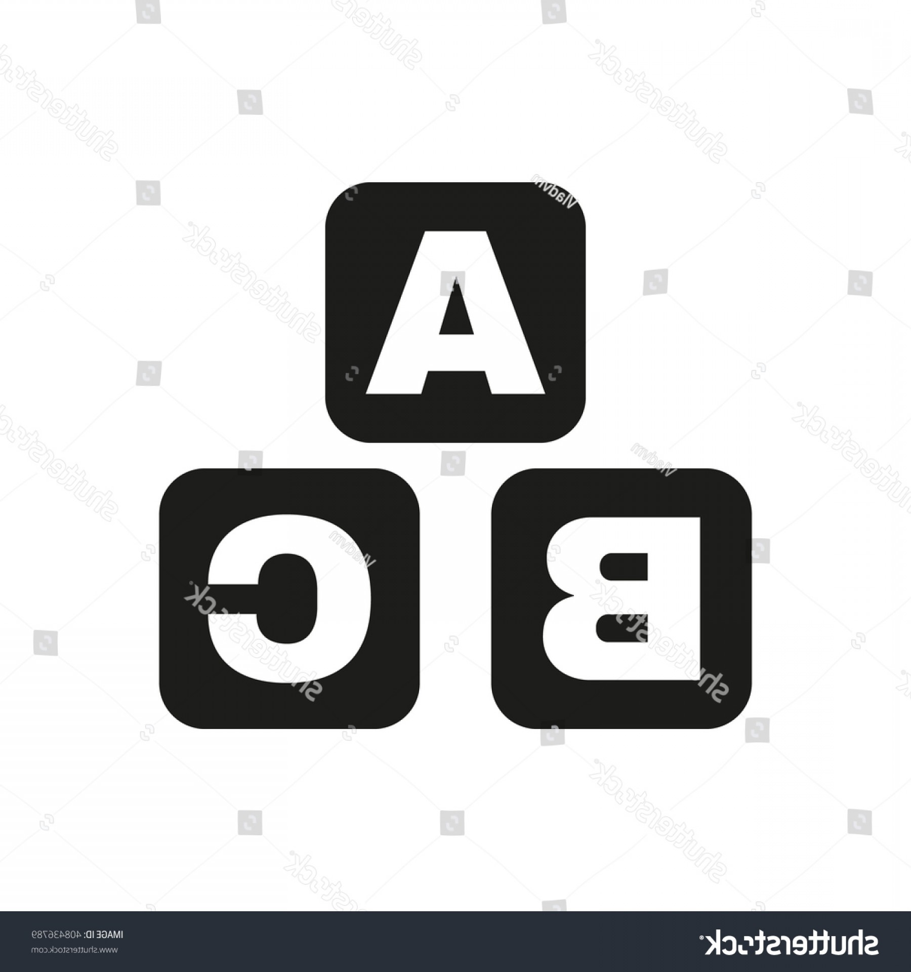 ABC News Logo Vector: Abc Building Blocks Icon Baby Bricks