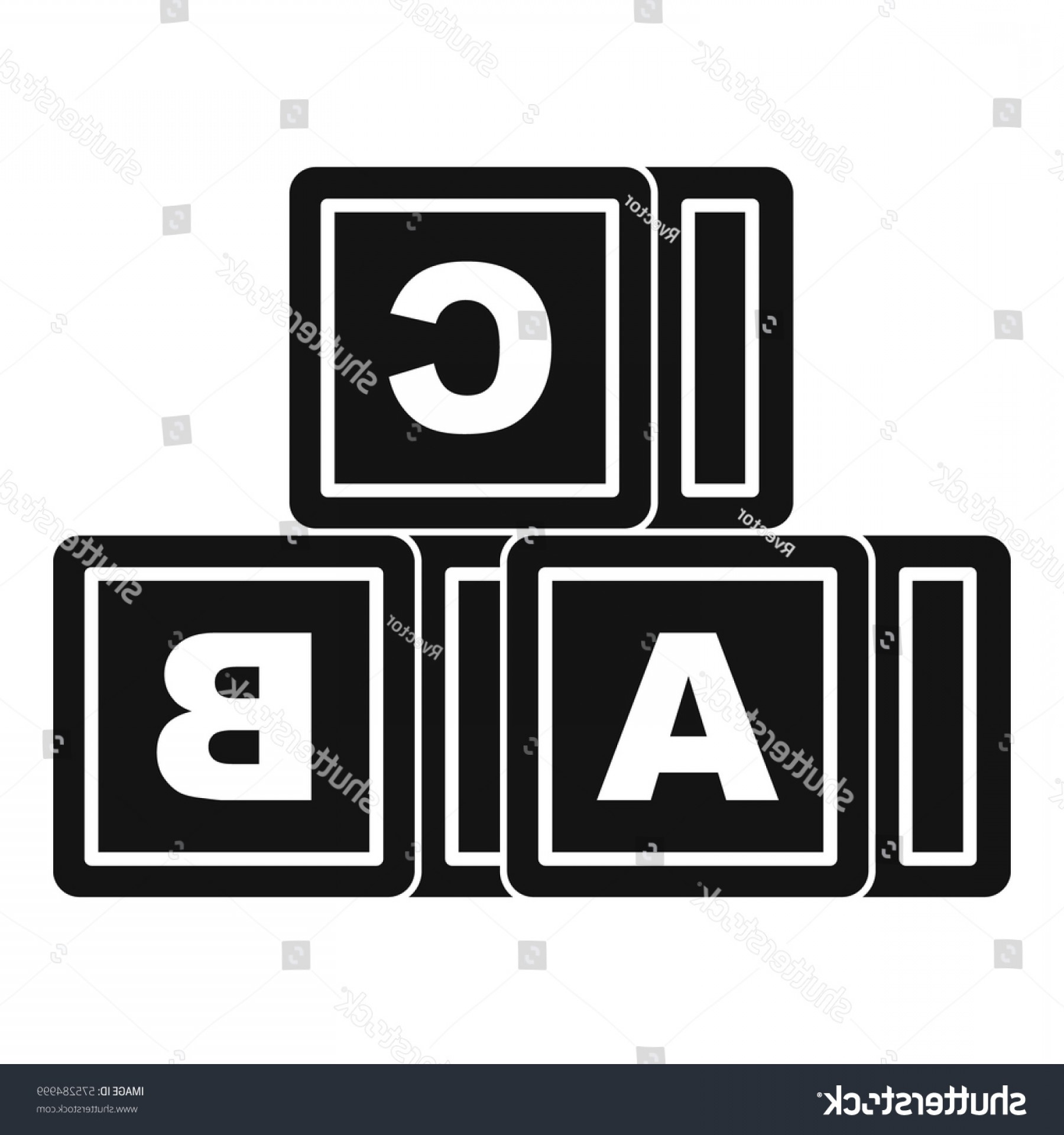 ABC News Logo Vector: Abc Cubes Icon Simple Illustration Vector