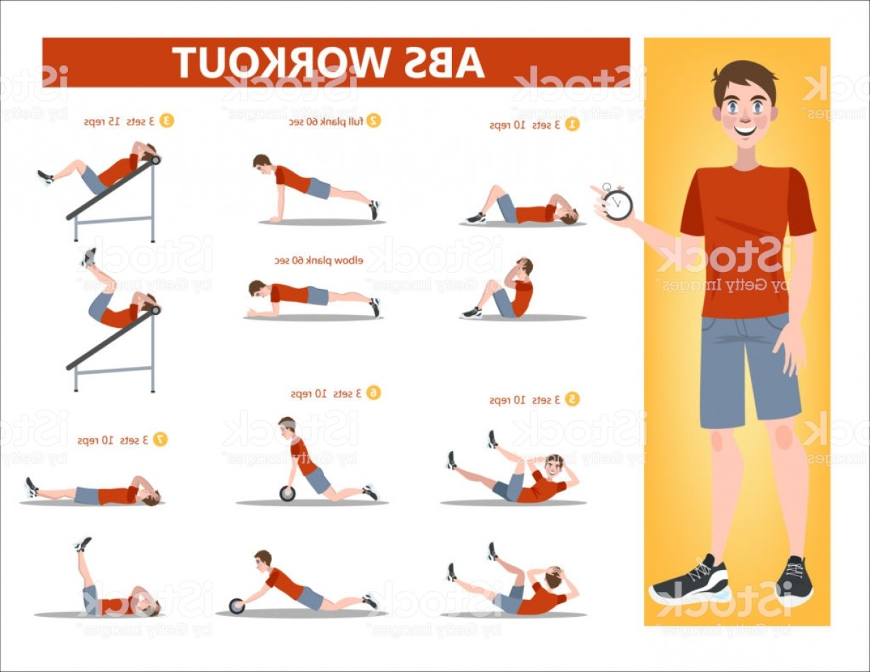 Pack 6 Vectorabs: Abs Workout For Men Gm