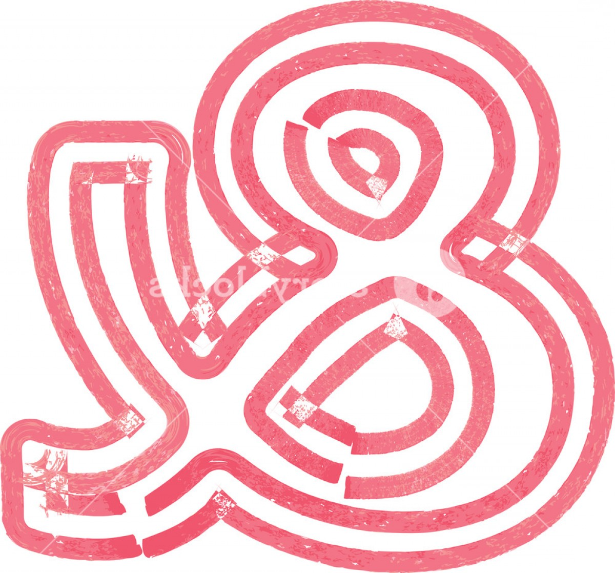 Ampersand Symbol Vector: Abstract Ampersand Symbol Made With Red Marker Vector Illustration Hiwvawprcejcoo