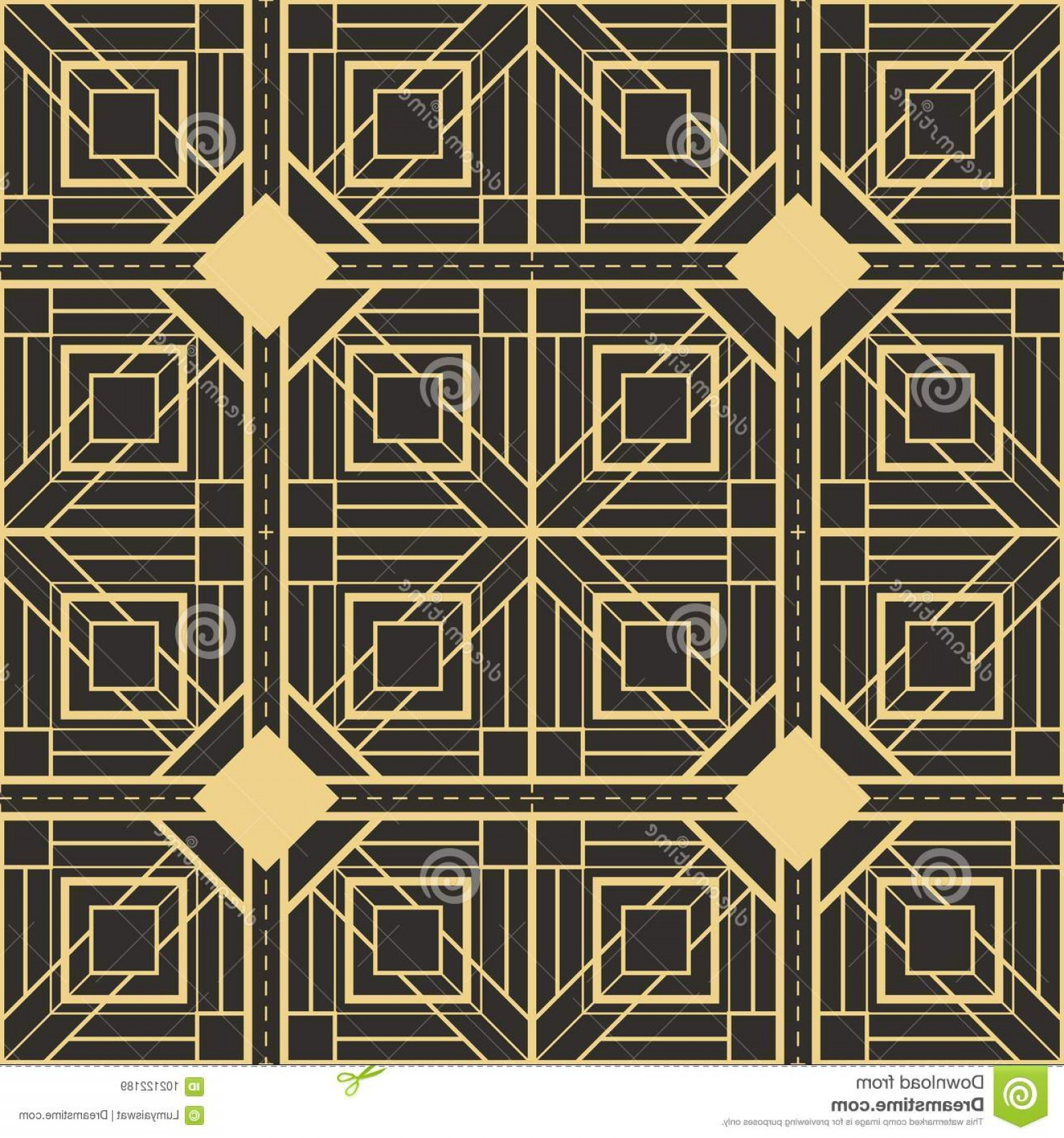 Art Deco Tile Vector Design: Abstract Art Deco Seamless Pattern Vector Modern Tiles Monochrome Background Image