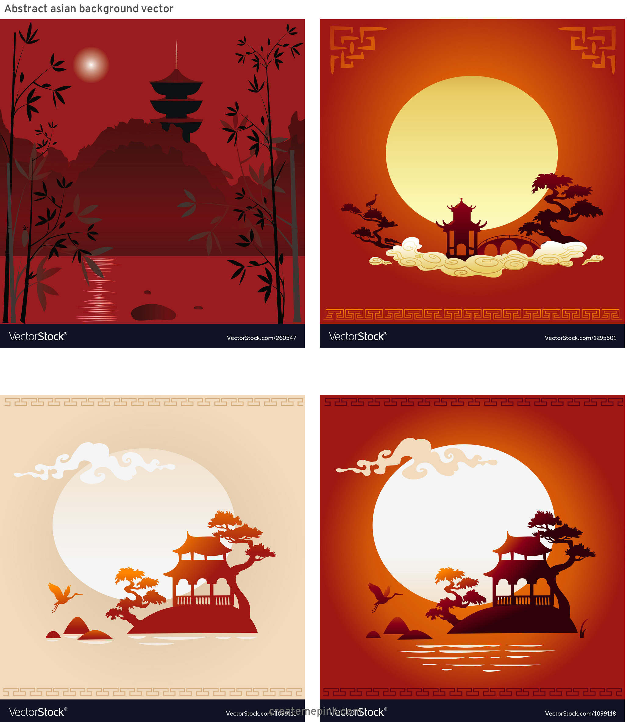 Asian Background Vector: Abstract Asian Background Vector