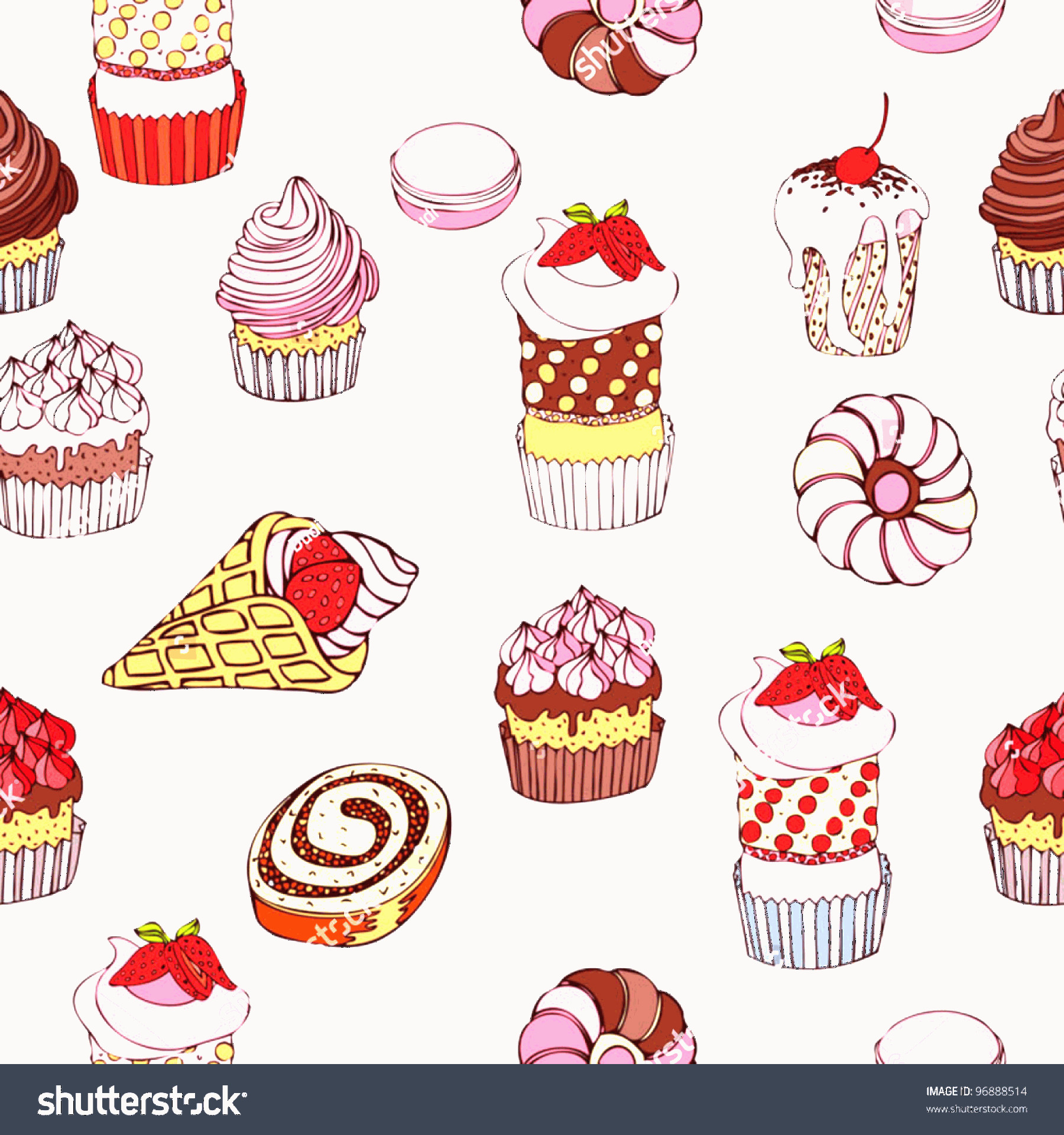 Vector Abstract Art Cake: Abstract Background Cakes Seamless Pattern Vintage