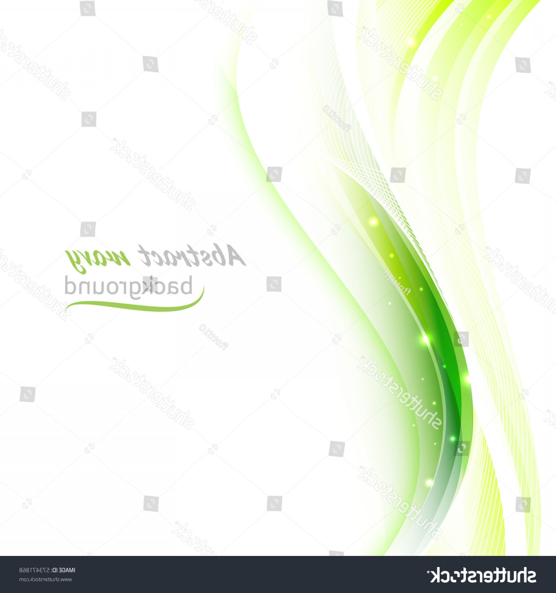 Wavy Line Illustrator Vector: Abstract Background Transparent Green Wavy Lines
