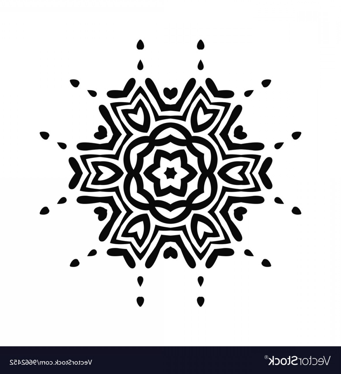 Vector Black Tribal: Abstract Black Tribal Ornament Vector
