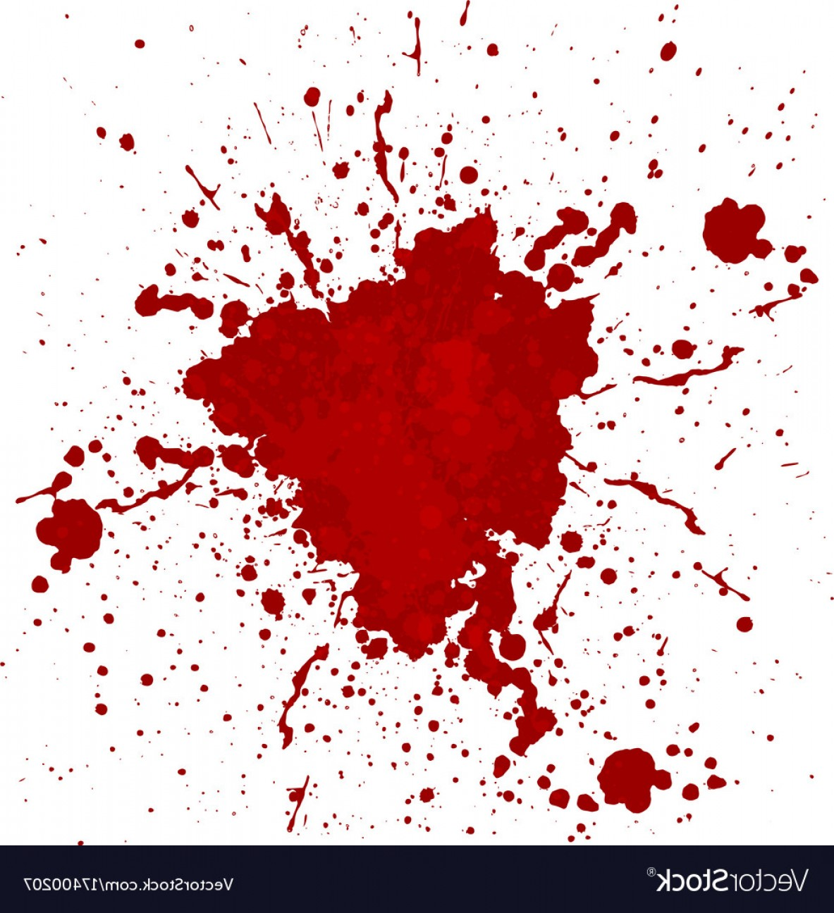 Vector Blood: Abstract Blood Splatter Isolated Vector