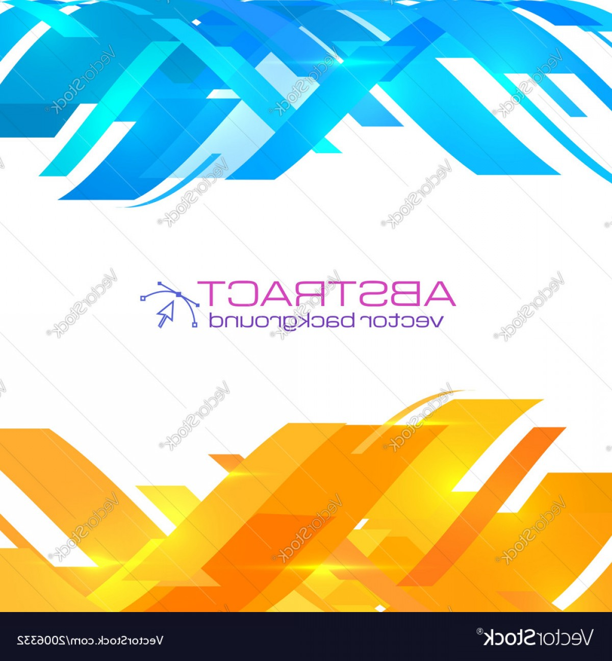 Backgroung Vector: Abstract Blue And Orange Background Vector