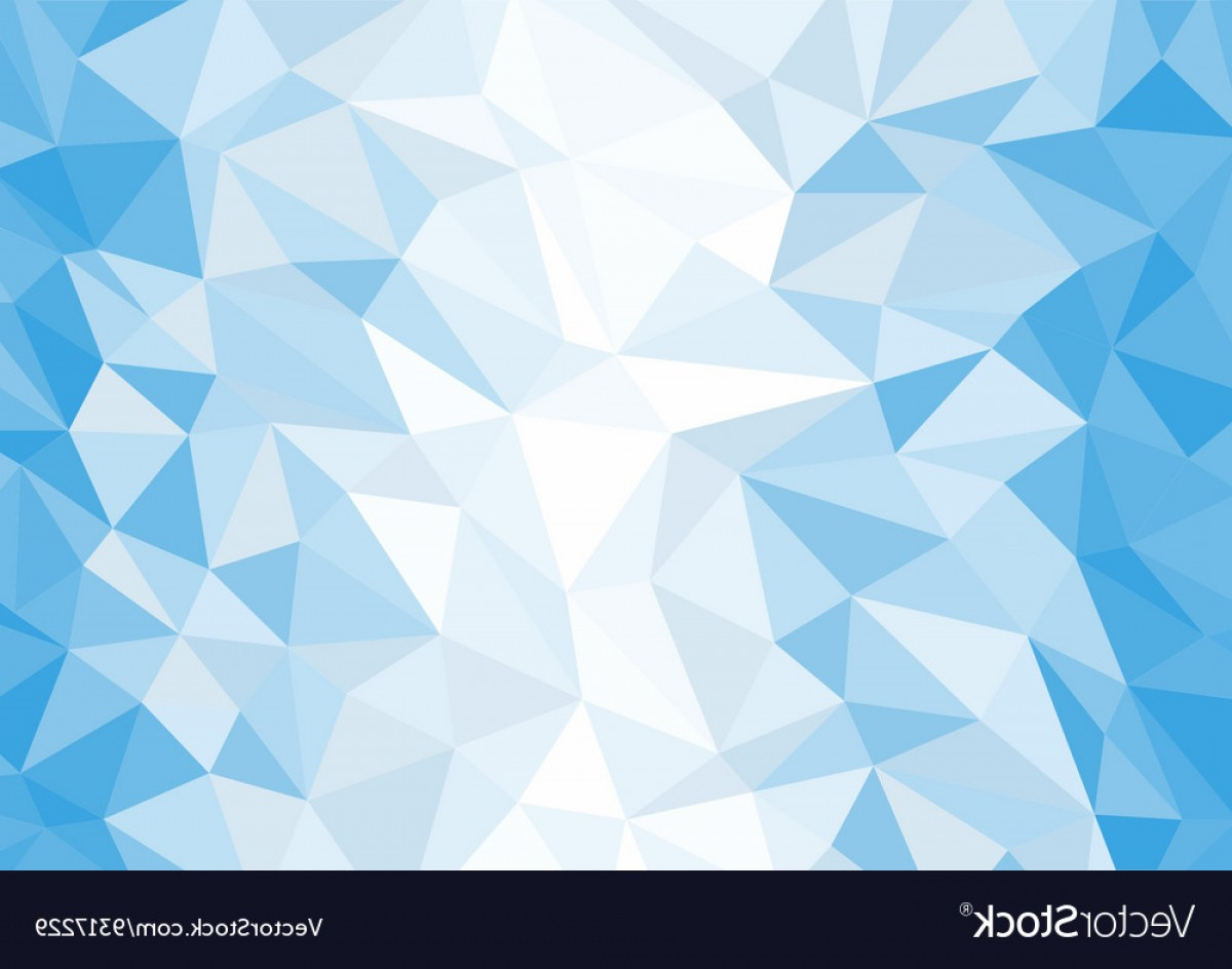 Blue White Background Vector: Abstract Blue And White Polygon Background Vector