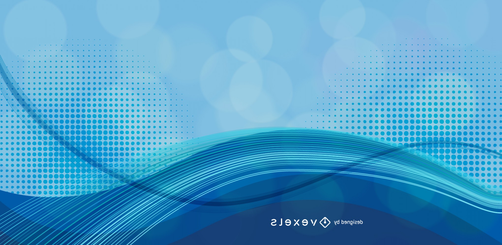 Backgroung Vector: Abstract Blue Background Vector Graphic
