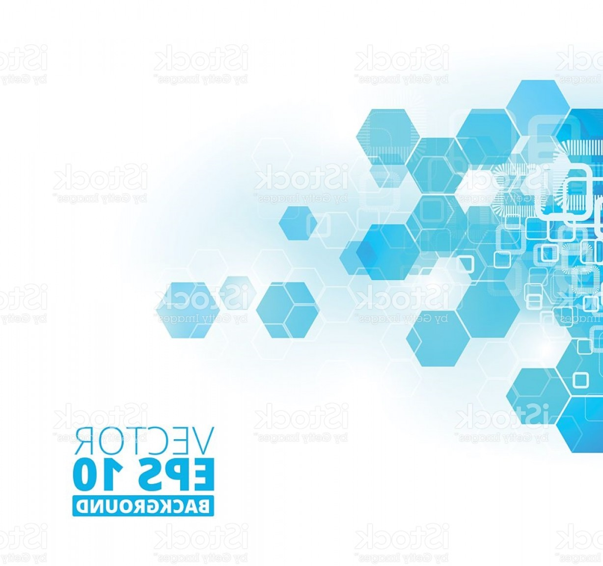 Free Abstract Vector Art: Abstract Blue Futuristic Vector Background Gm