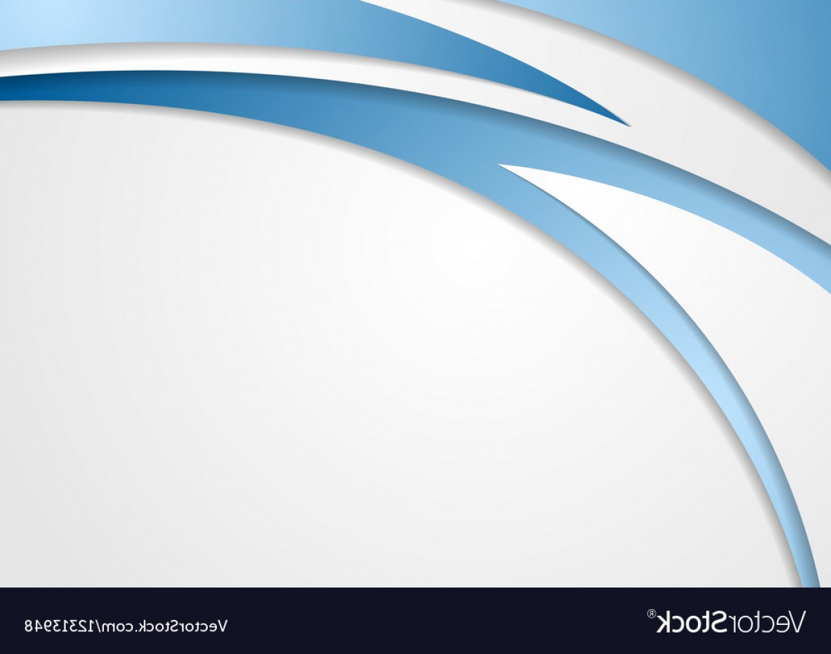 Grey Waves Vector: Abstract Blue Grey Waves Corporate Background Vector