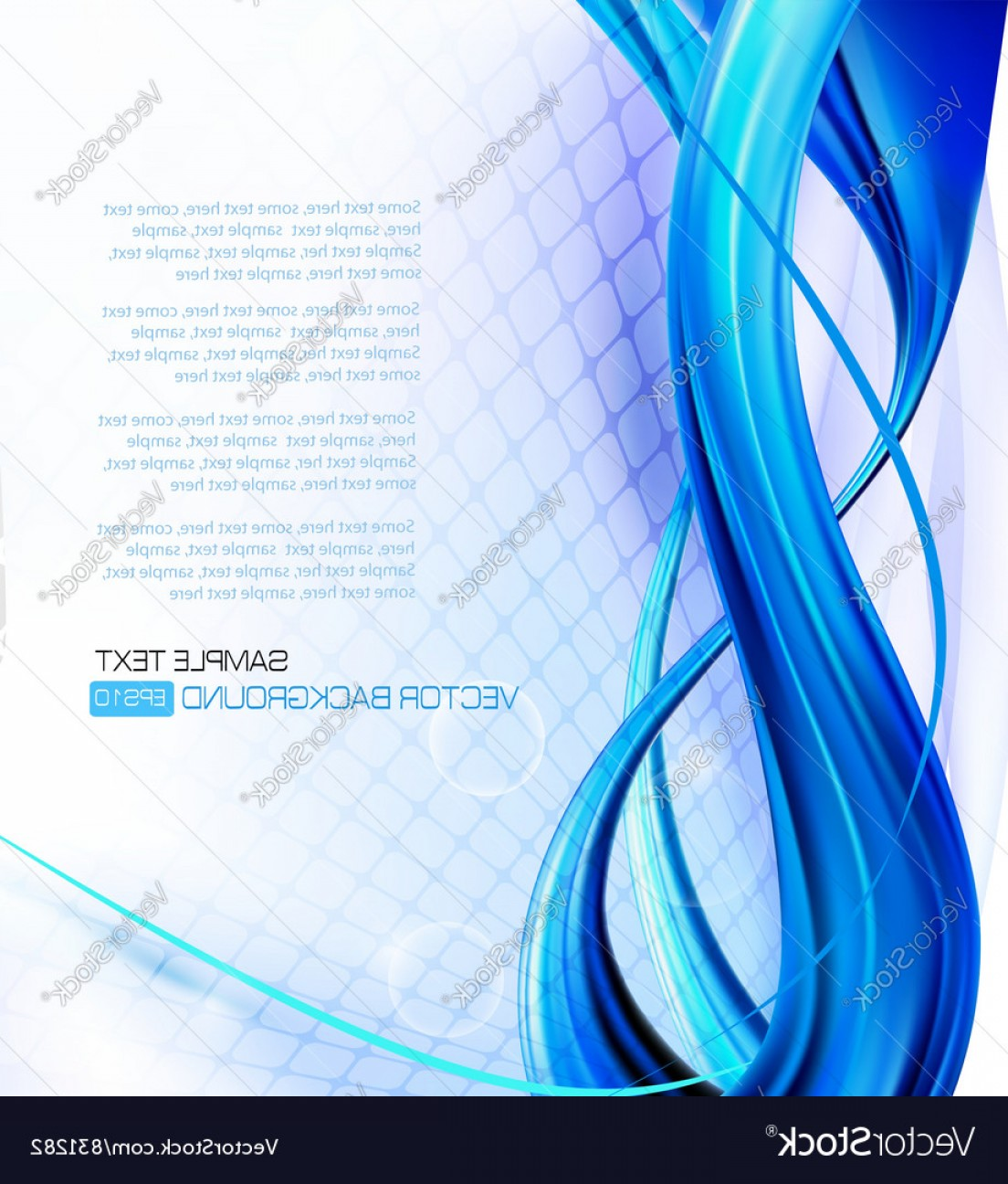 Vector Abstract Elegant Design: Abstract Blue Neon Elegant Background With Design Vector