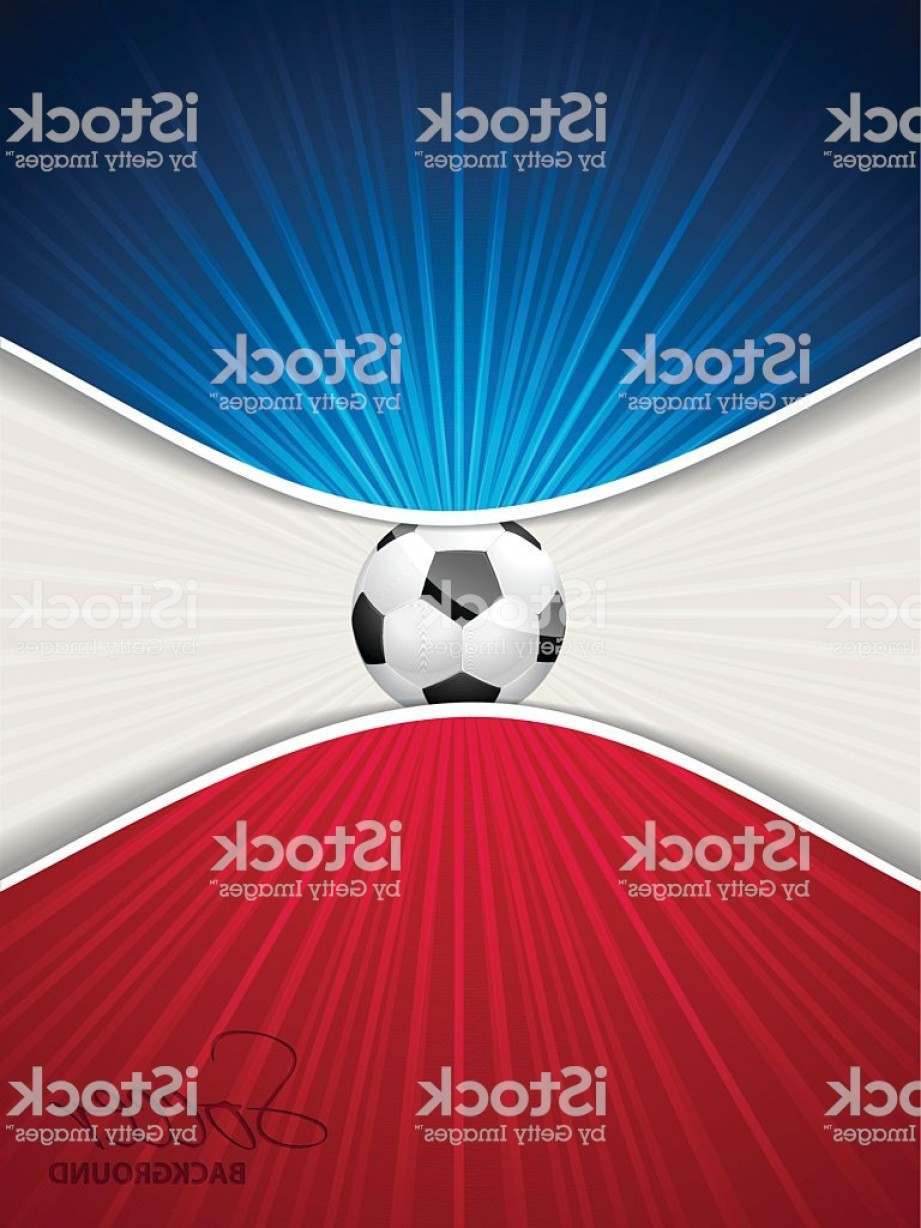 Soccer Blue Background Vector Graphics: Abstract Blue Red Soccer Brochure Gm