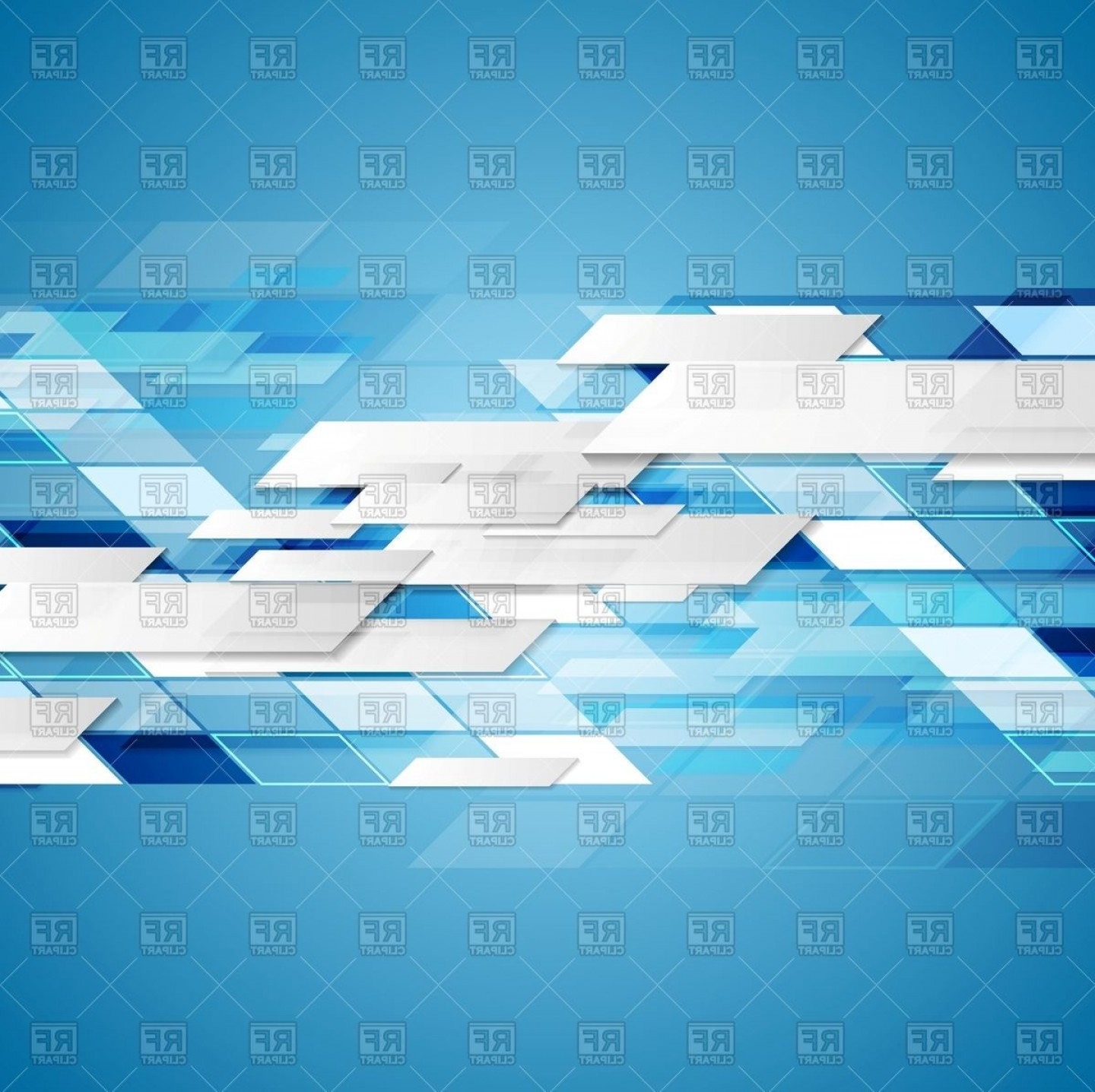 Blue Technology Vector Illustration: Abstract Blue Technology Background Vector Clipart