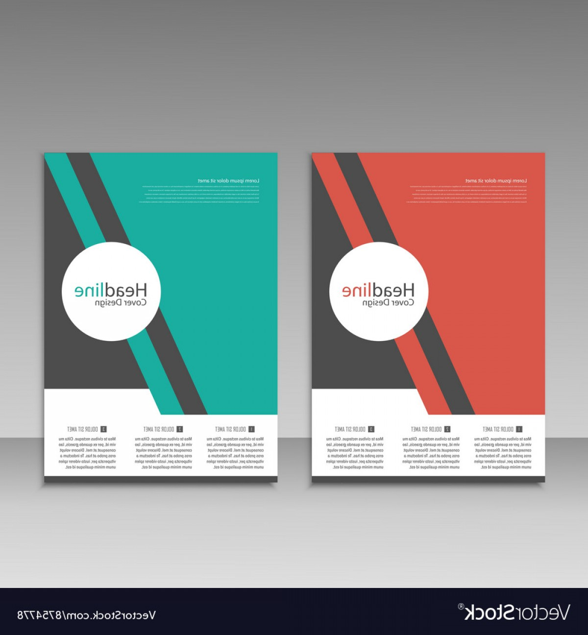 Vector Brochure Cover Designs: Abstract Brochure Design Modern Cover Backgrounds Vector