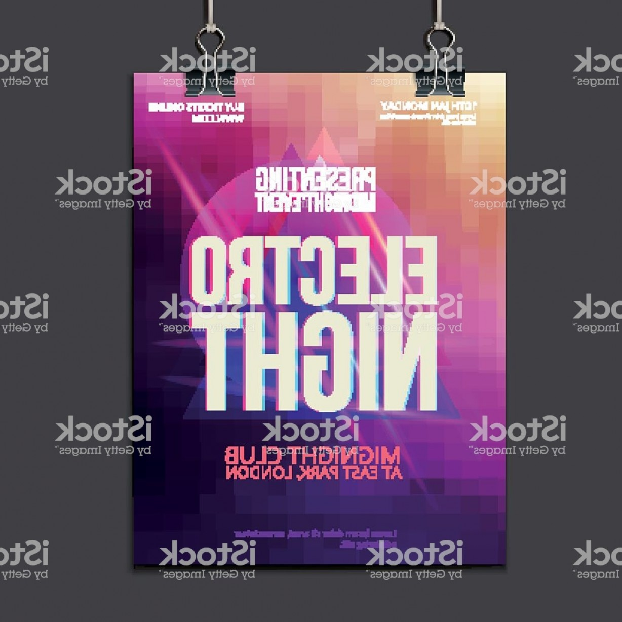 Club Flyer Vector: Abstract Brochure Design Vector Template Club Flyer Gm