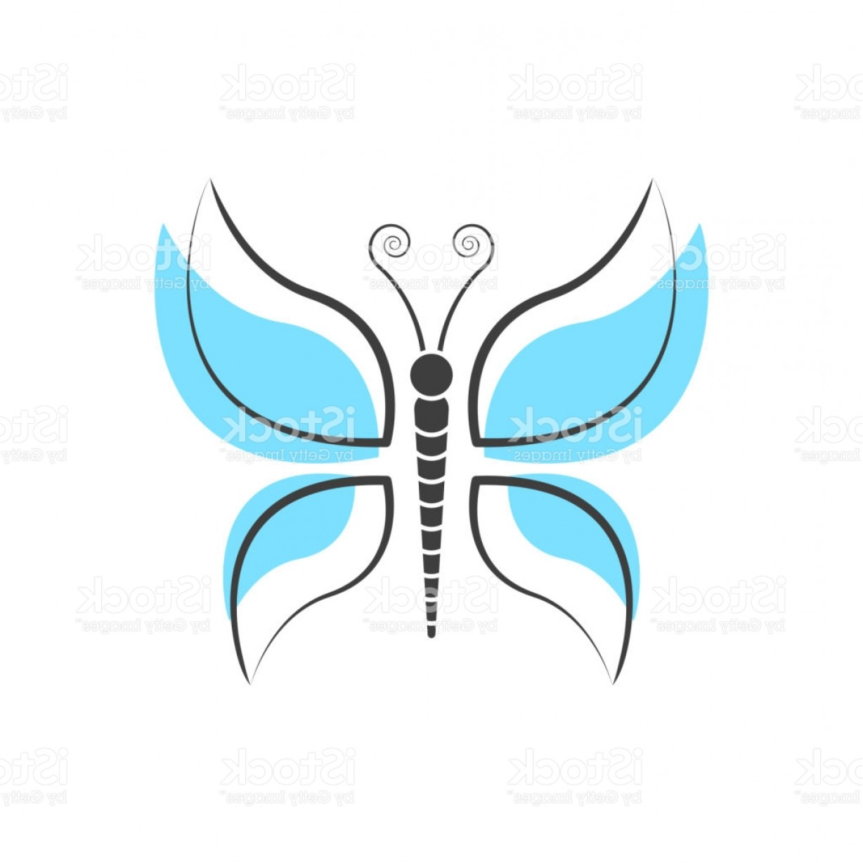 Simple Vector Logo: Abstract Butterfly Logo Template Simple Vector Logo Illustration Gm
