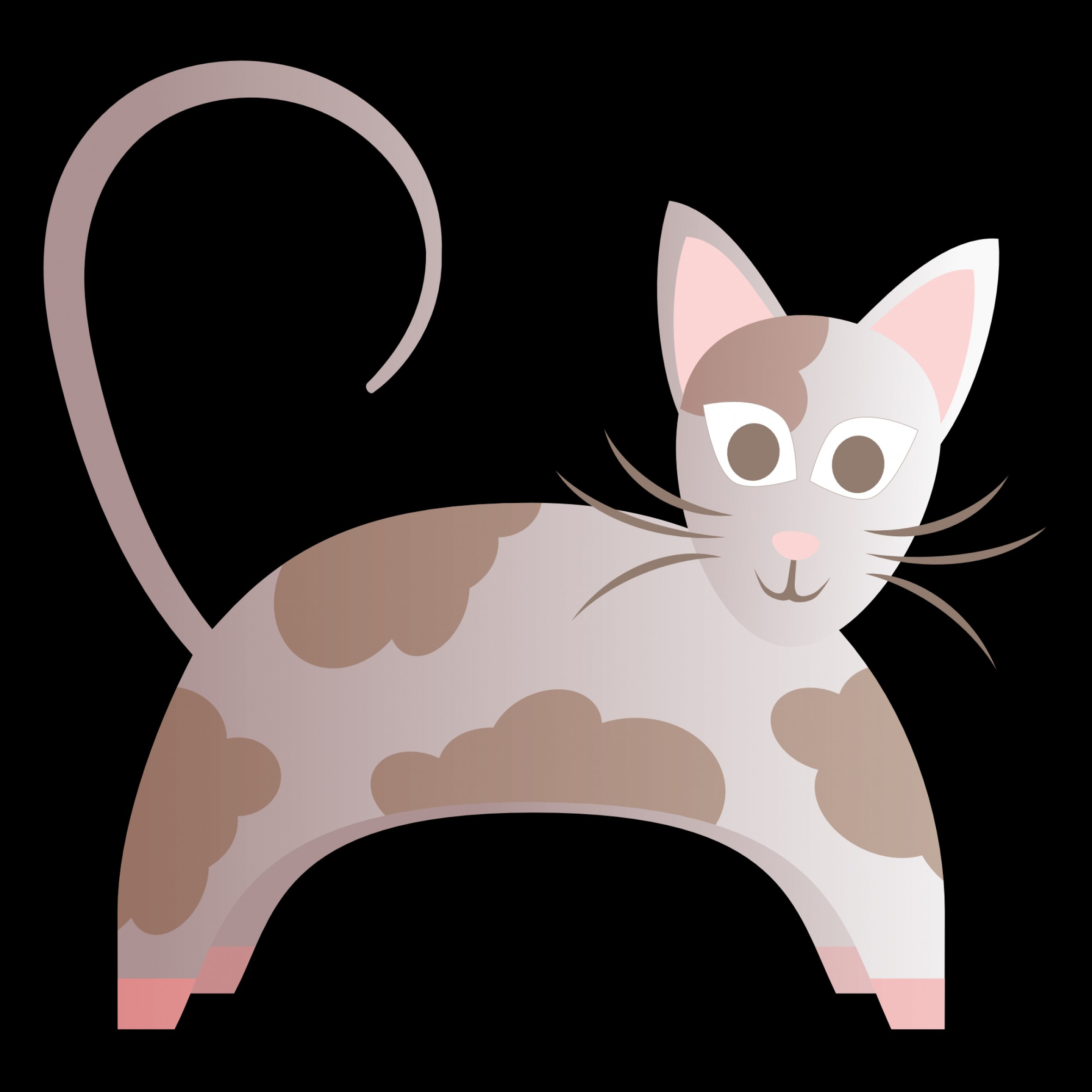 Vector Cats 3: Abstract Cat Scalable Vector Graphics Svg