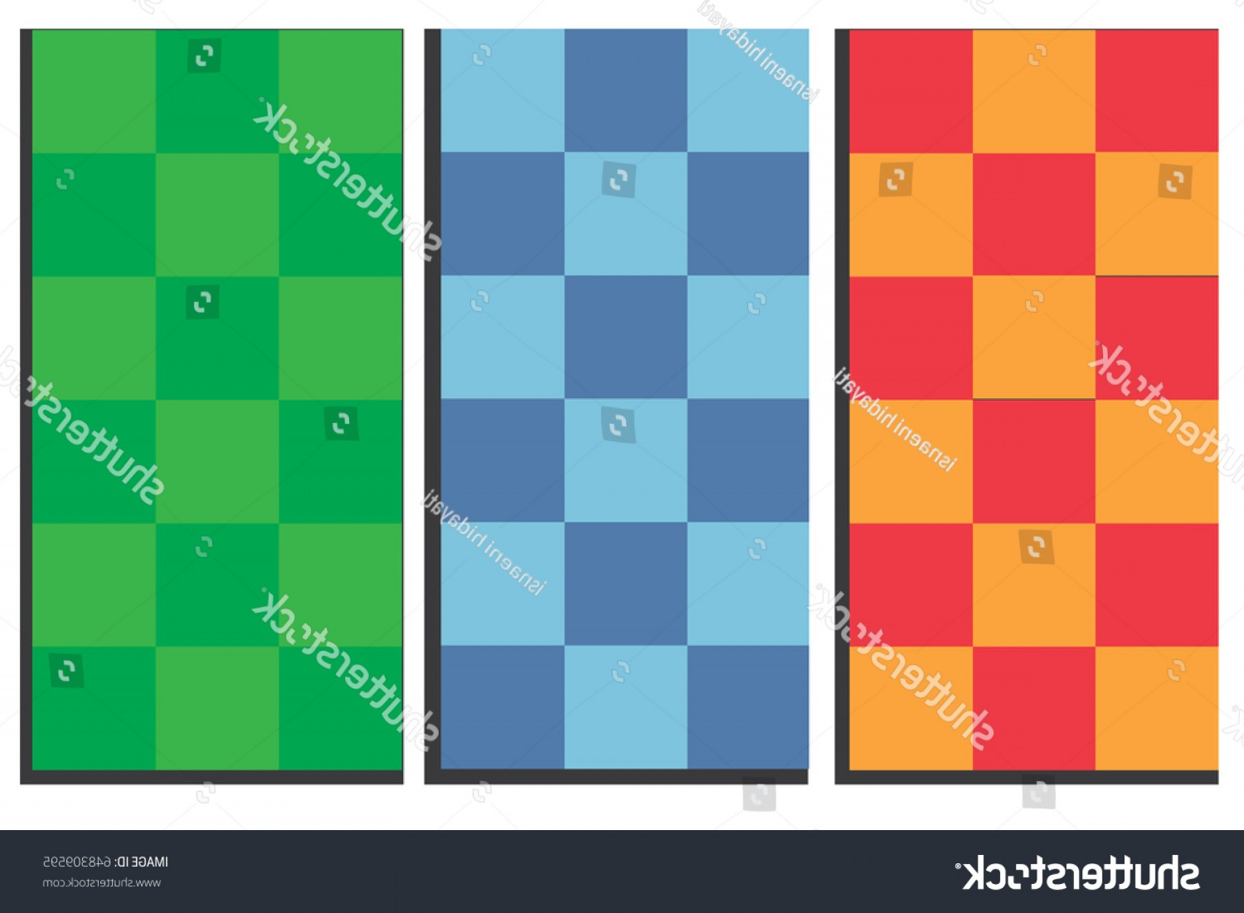 Checker Vector Template: Abstract Checker Patterns Background Template Vector