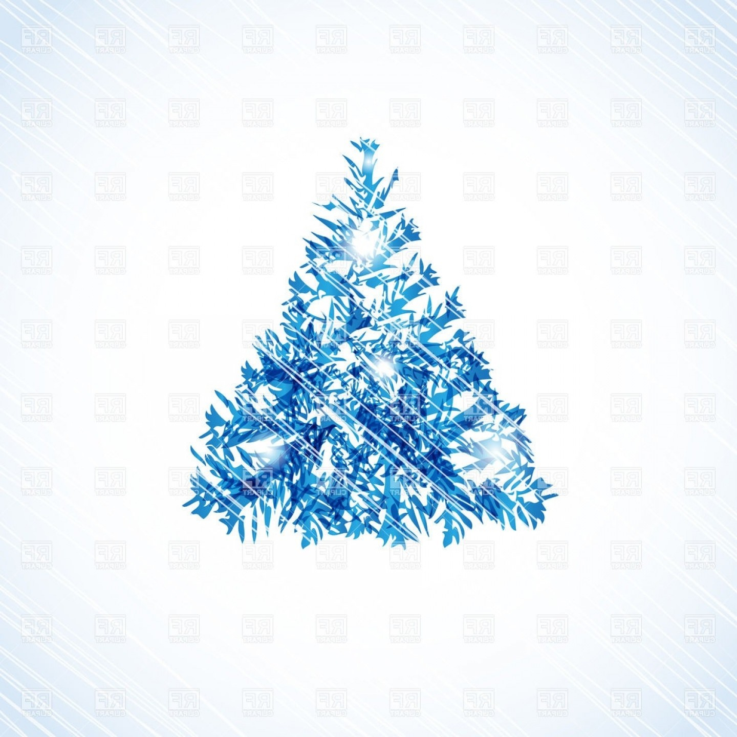 Christmas Tree Vector Illustration: Abstract Christmas Tree Vector Illustration Free Vector Graphics