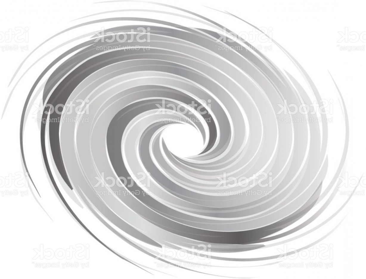 Hurricane Vector Art: Abstract Circle Swirl Image Concept Of Hurricane Gm