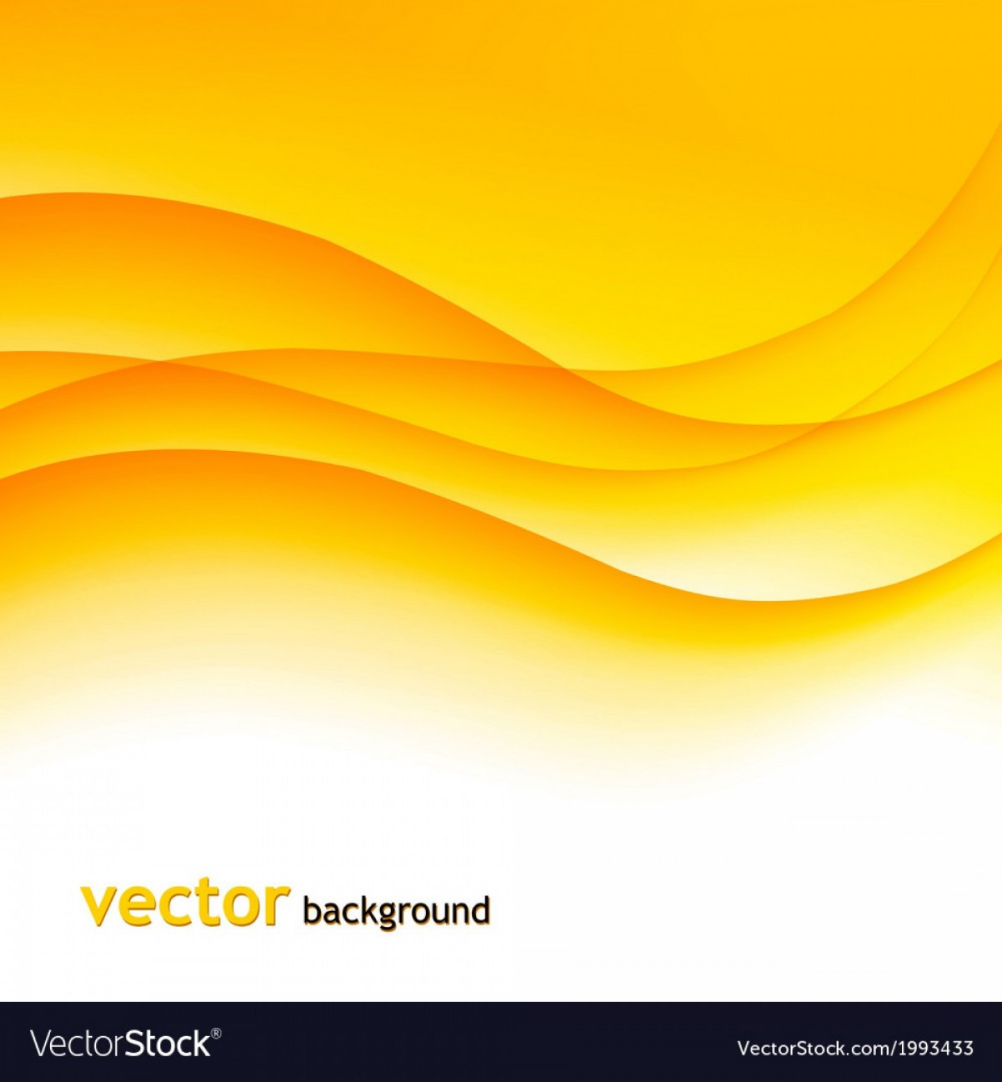 Vave Vector: Abstract Colorful Background With Orange Wave Vector
