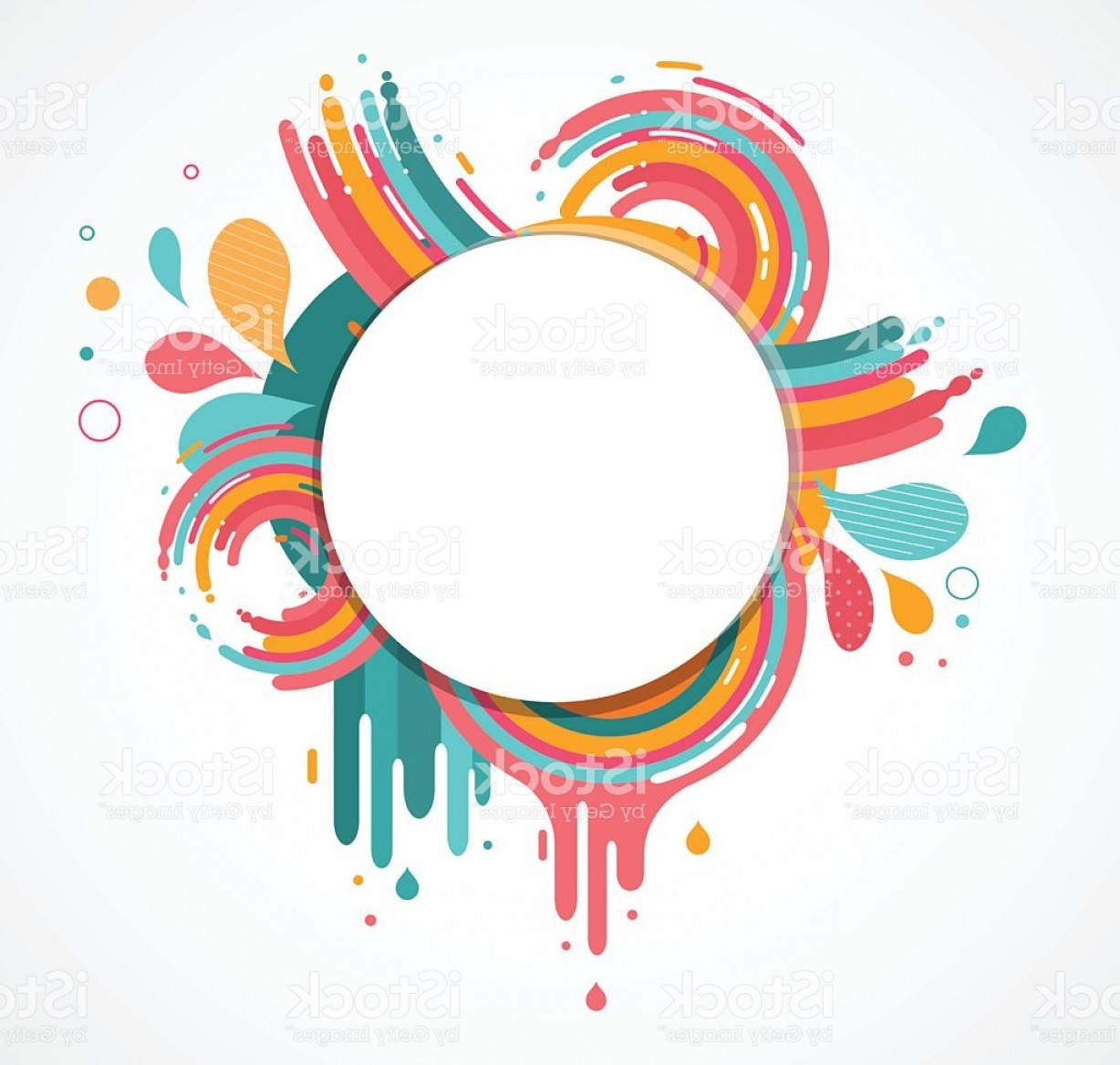 Free Abstract Vector Art: Abstract Colorful Background With Text Space Gm
