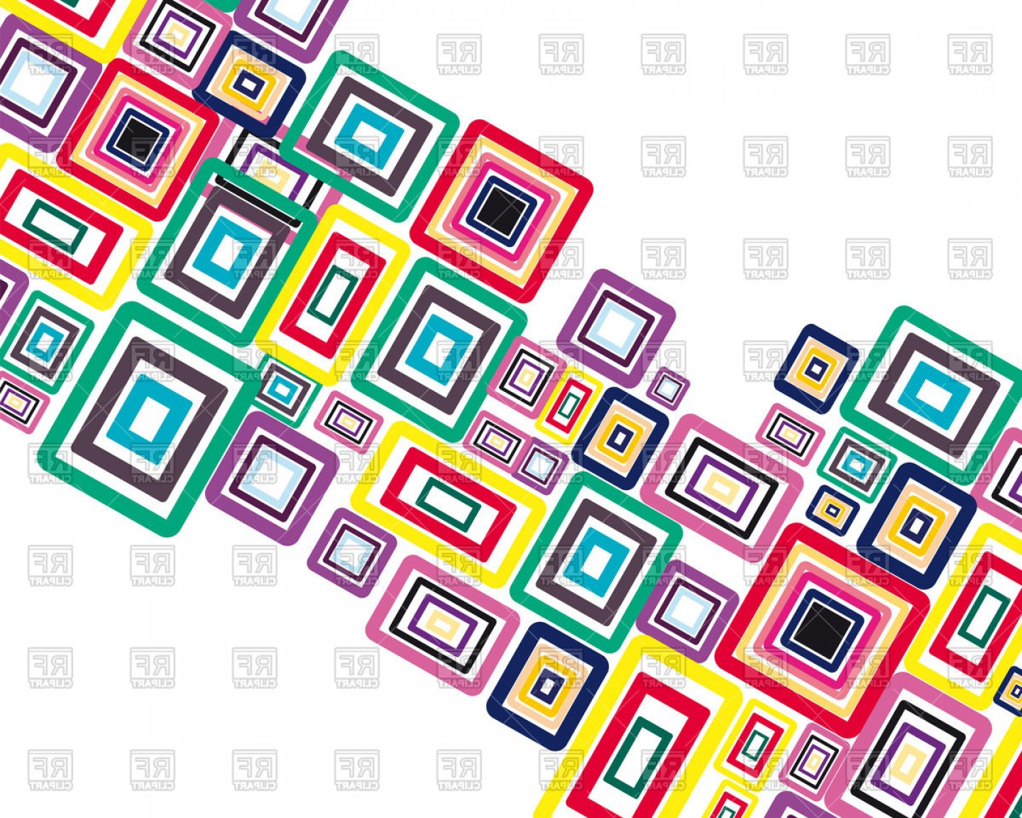 Geometric Vector B2: Abstract Colorful Squares Geometric Background Vector Clipart