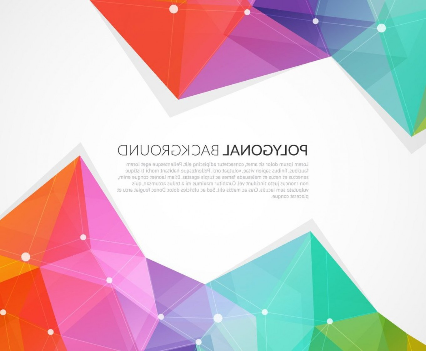Backgroung Vector: Abstract Colorful Triangle Vector Background