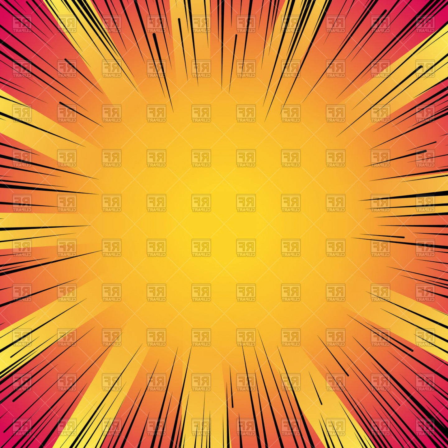 Comic Book Vector Graphics: Abstract Comic Book Flash Explosion Vector Clipart