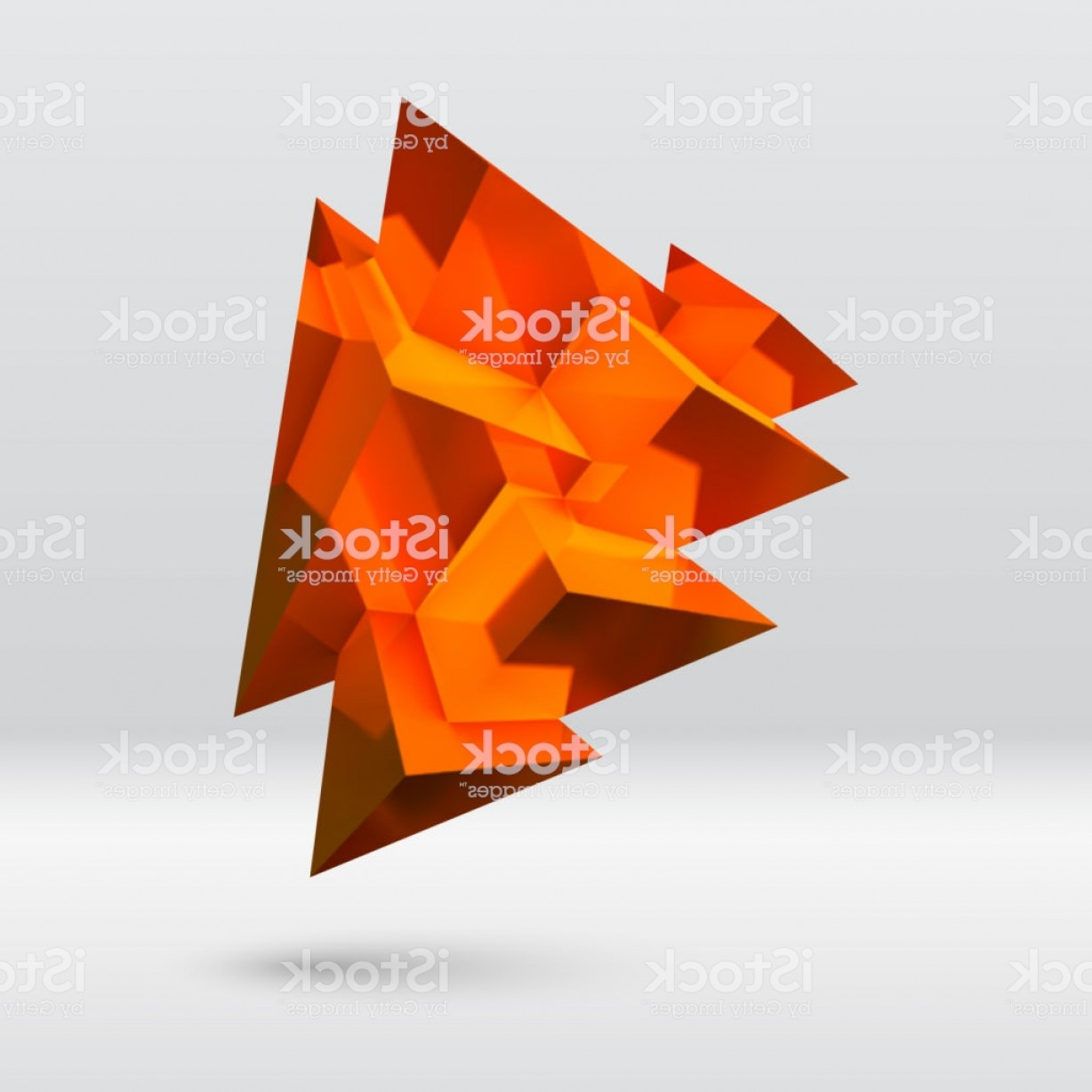 Piramids Vector Art: Abstract Copper Crystal With Overlapping Pyramids Gm
