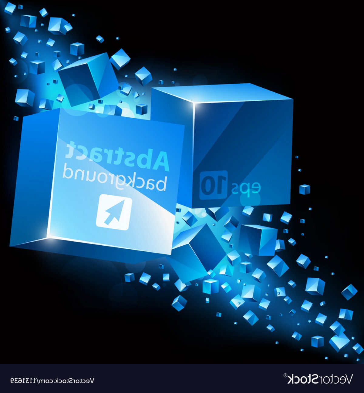 Vector Abstract 3D: Abstract D Background With Cubes Vector