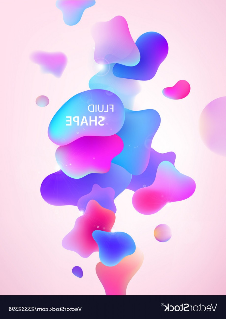 Vector Abstract 3D: Abstract D Blue Pink And Purple Gradient Drop Vector