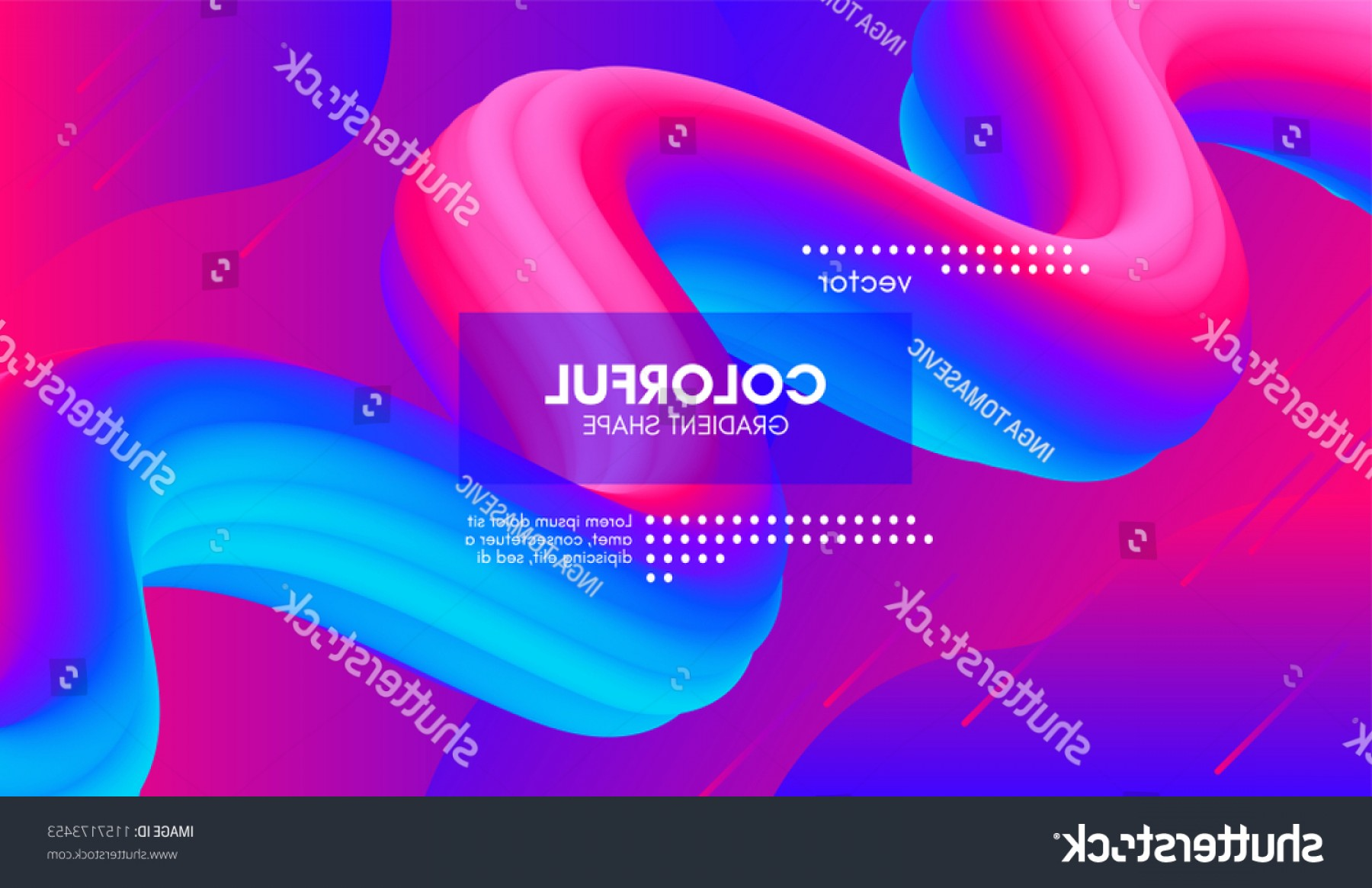 Vector Abstract 3D: Abstract D Gradient Background Colorful Liquid