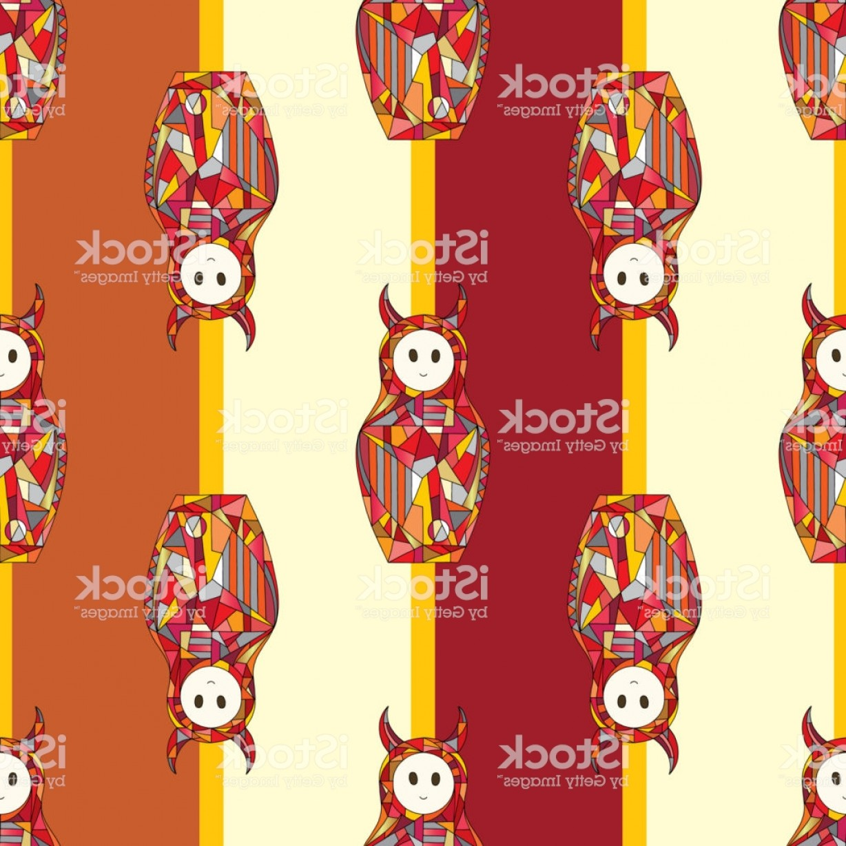 Girls Vector Art Wallpaper: Abstract Devil Girls Vector Seamless Pattern Fantasy Characters Texture For Surface Gm