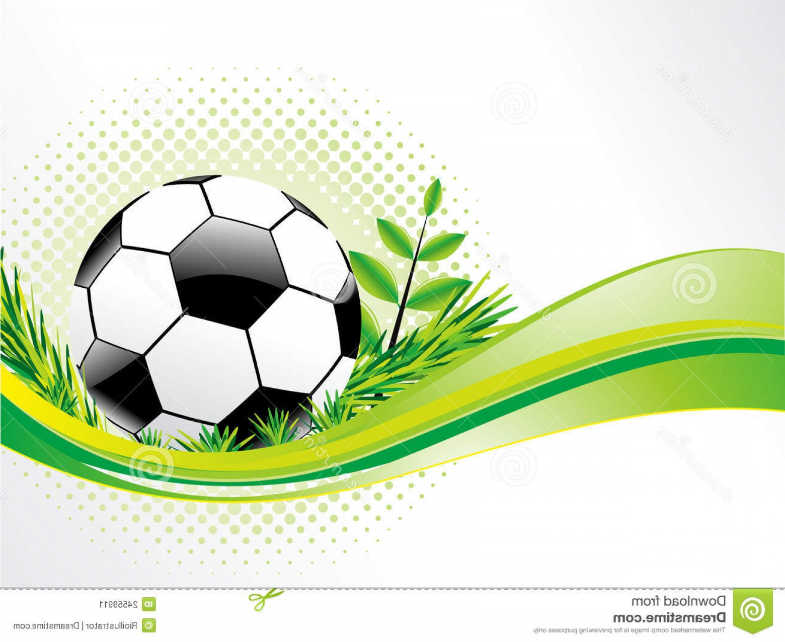 Football Vector Wallpaper: Abstract Eco Background With Football Illustration