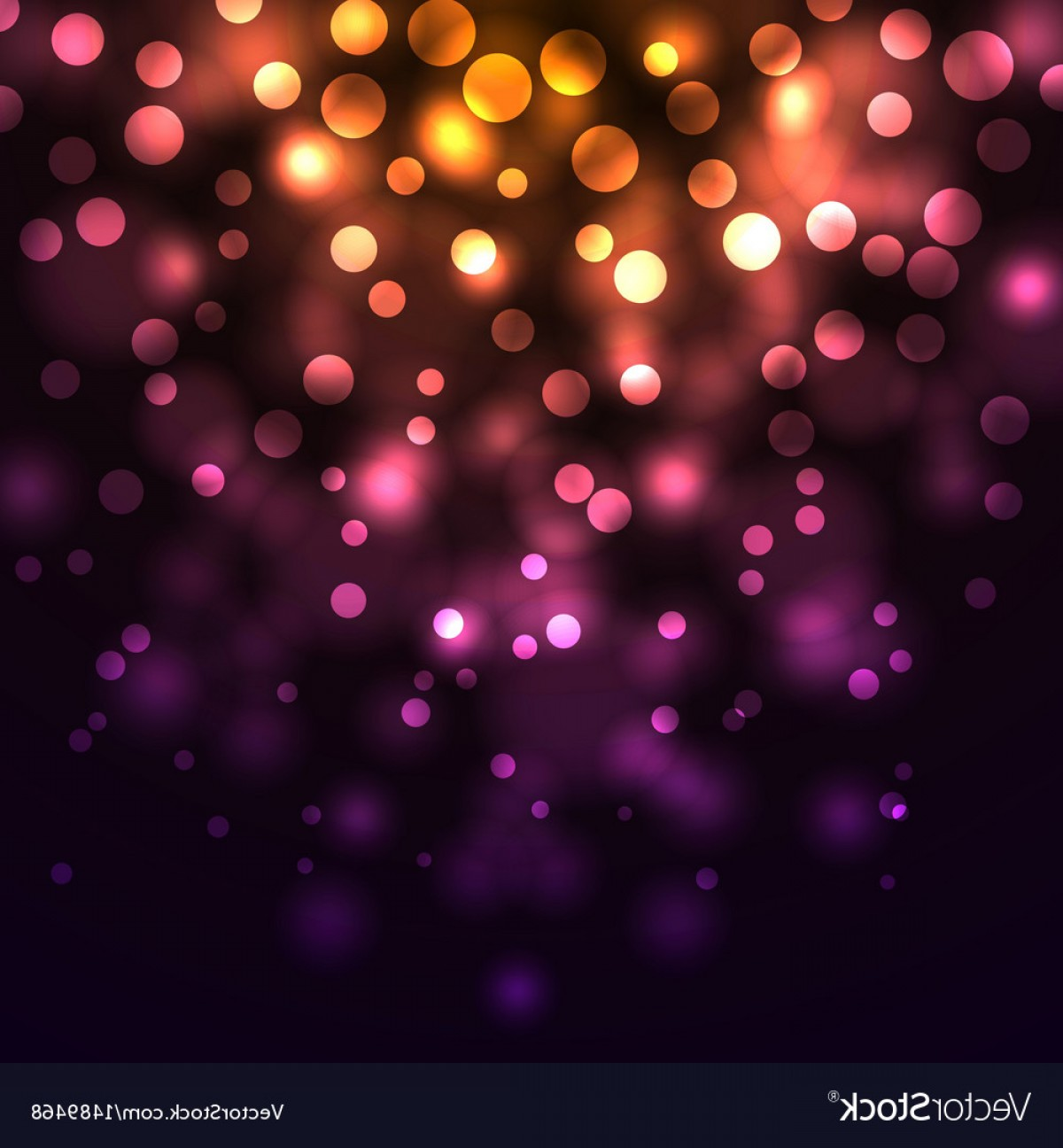 Lighting Black Background Vector: Abstract Falling Lights Dark Background Vector