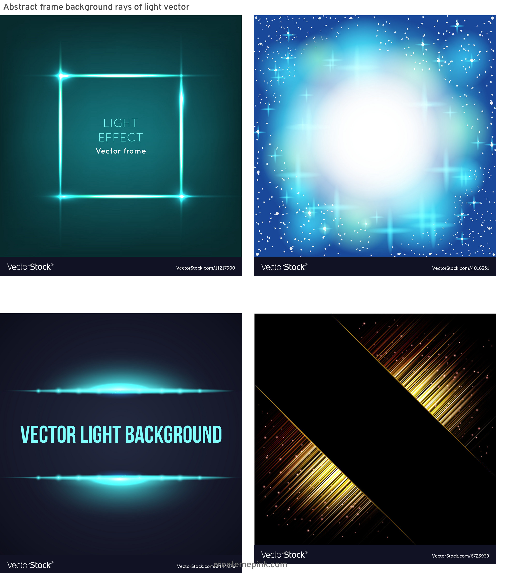 Light Background Vector Frame: Abstract Frame Background Rays Of Light Vector