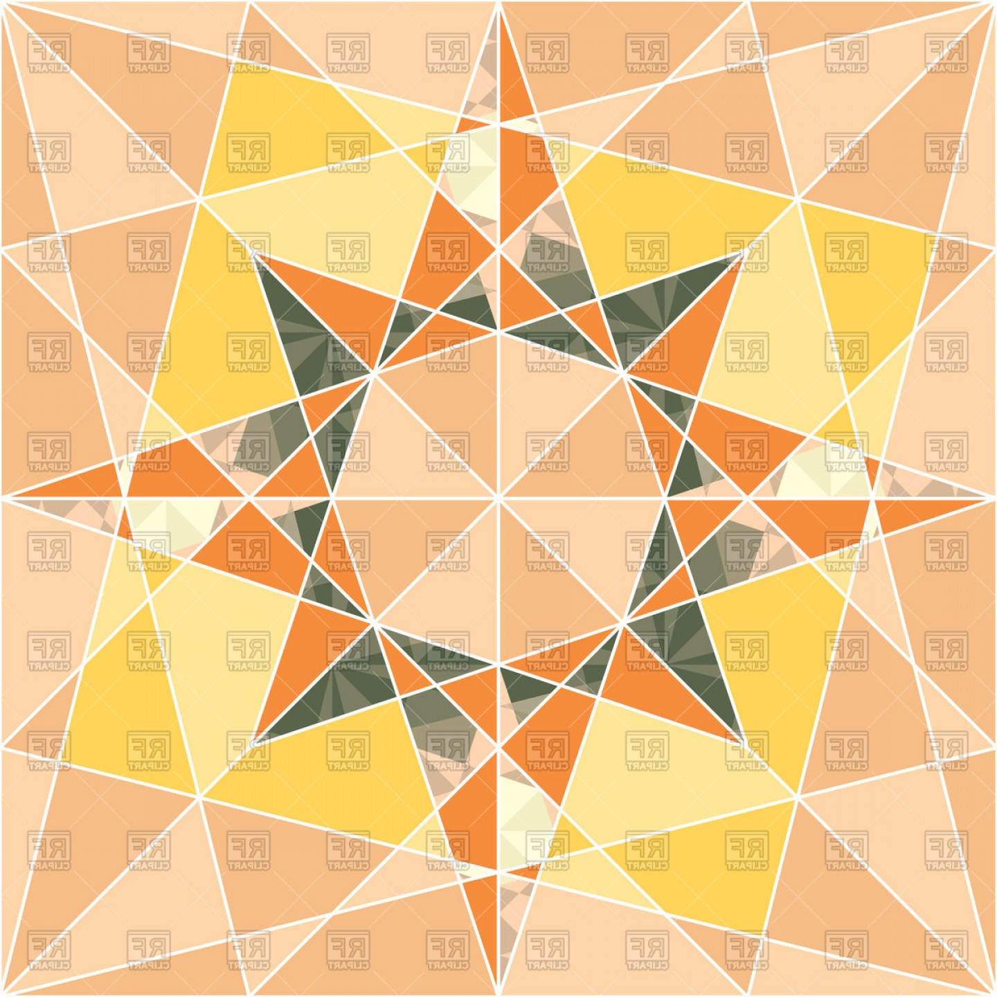 Geometric Vector B2: Abstract Geometric Star Seamless Pattern Vector Clipart