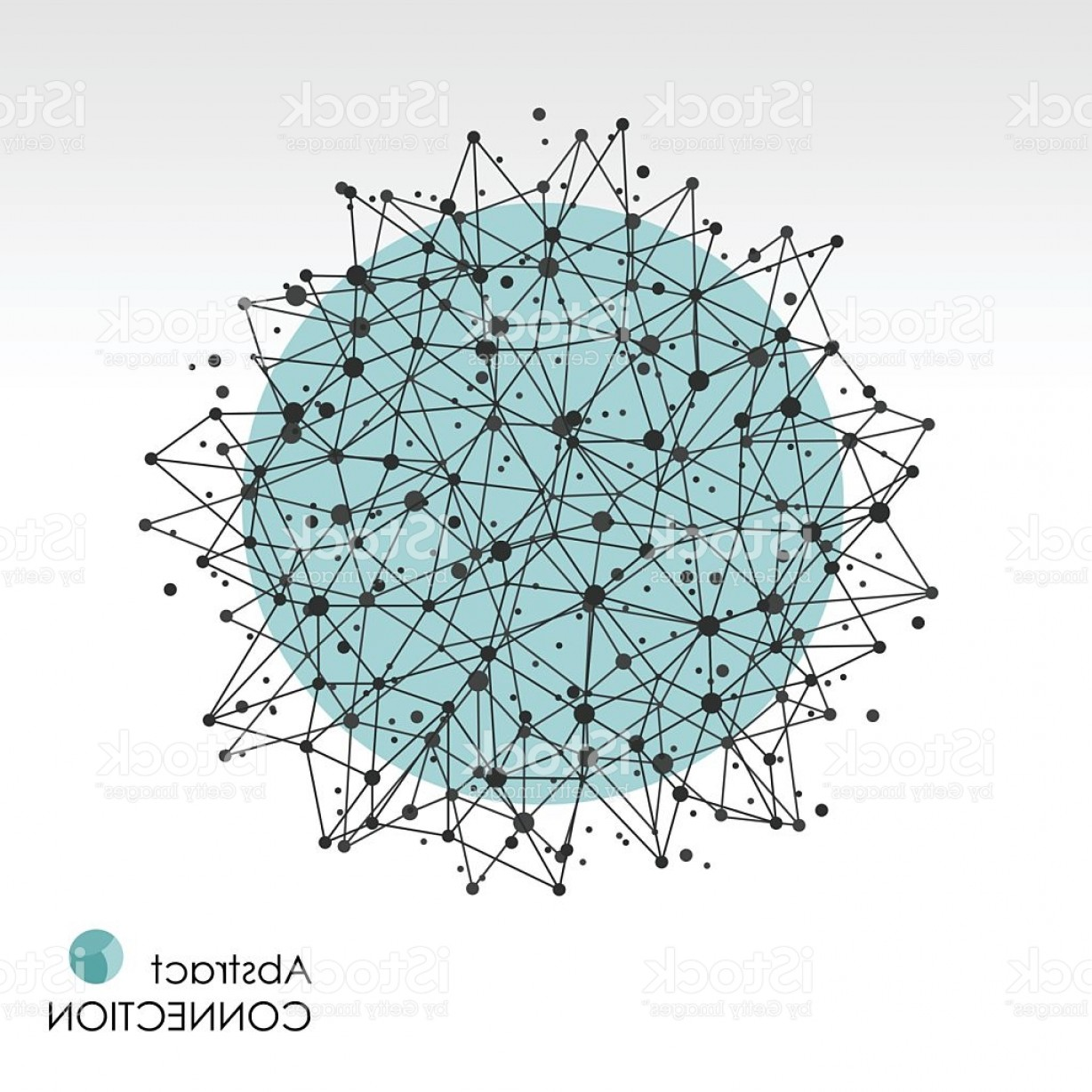 Free Abstract Vector Art: Abstract Globe Network Connections Vector Background Molecular Polygonal Connection Gm