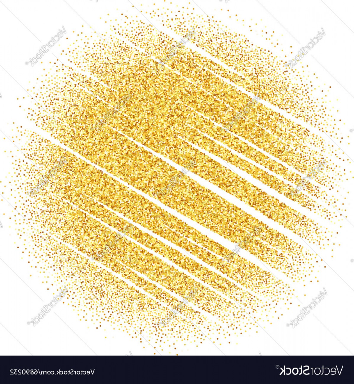 Vector Gold Dust: Abstract Gold Dust Glitter Star Wave Vector