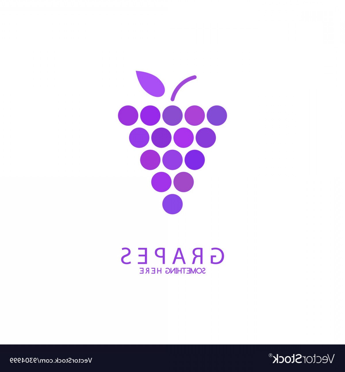 Abstract Vector Grapes: Abstract Grapes Logo Template Purple Grapes Vector