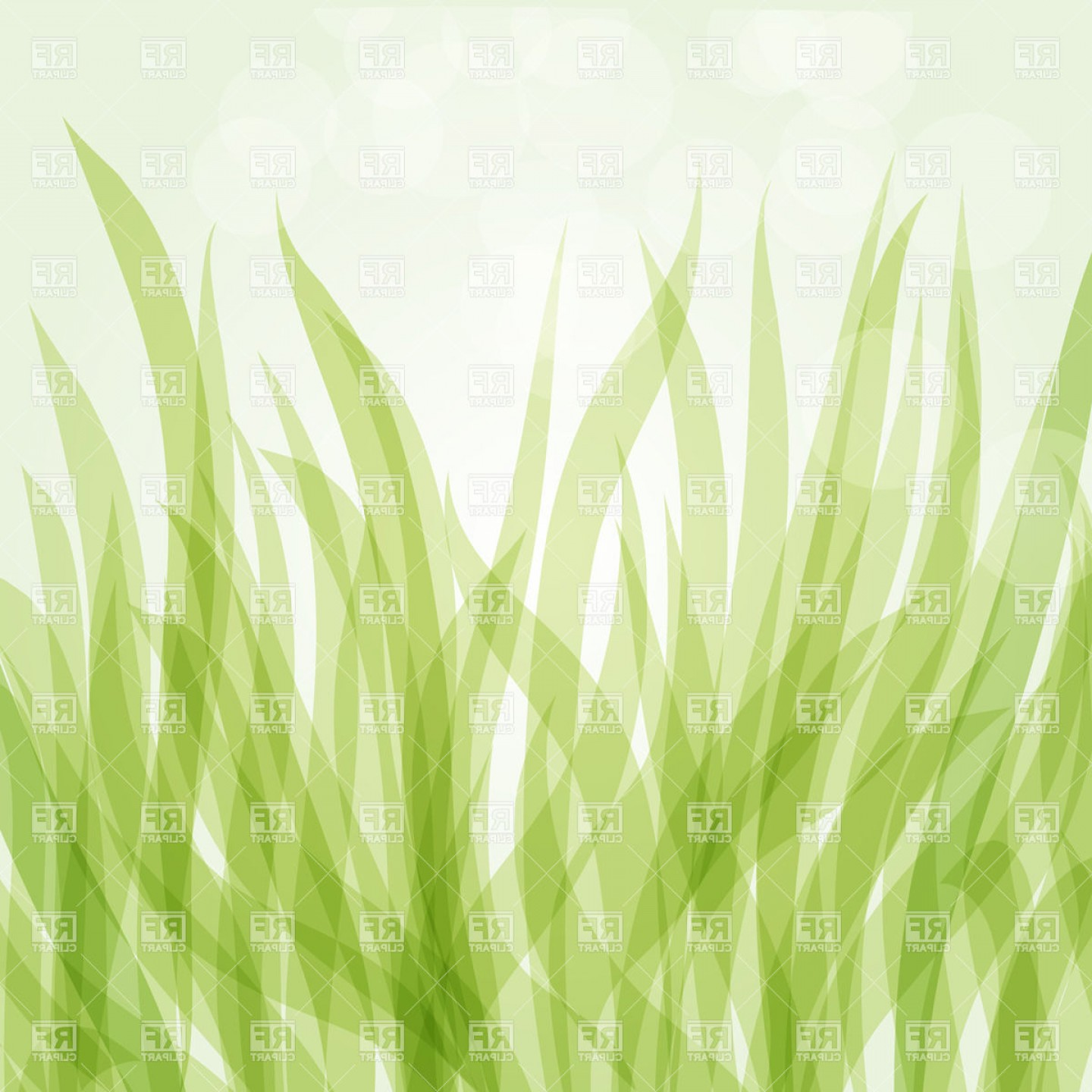Grass Vector Graphic: Abstract Green Grass And Spots Of Light Vector Clipart